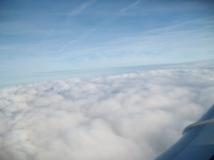 "Viewed from Aircraft window in full flight ""The Skies"""